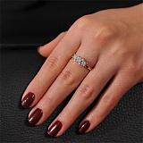 Золотое кольцо с кристаллами Swarovski Юлия
