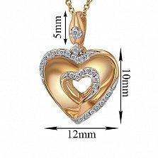 Кулон из золота с бриллиантами Мелодия сердца