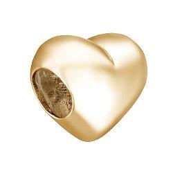 Подвес-шарм Сердце в красном золоте