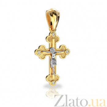 Золотой крестик Сила веры с бриллиантами VLA--30030