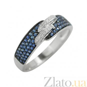 Золотое кольцо с сапфирами и бриллиантами Крепкая связь 000026836
