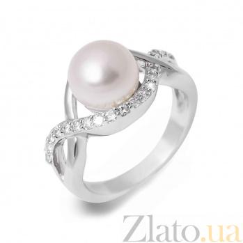 Кольцо серебряное с белым жемчугом Белла AQA--R00624PW