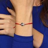 Шелковый браслет со вставкой Щедрое сердце