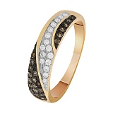 Кольцо в красном золоте Светлана с бриллиантами