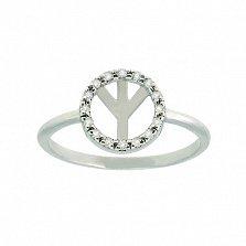 Золотое кольцо с бриллиантами Альгиз