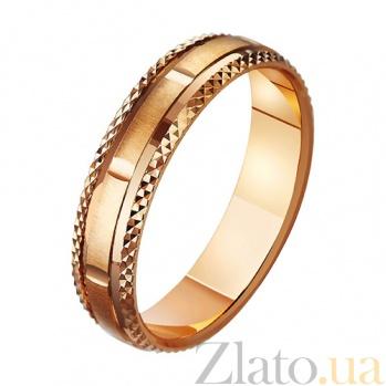 Золотое обручальное кольцо Проявление любви TRF--411182