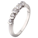Кольцо из белого золота с бриллиантами Мелодия любви