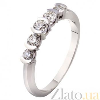 Кольцо из белого золота с бриллиантами Мелодия любви KBL--К1879/бел/брил