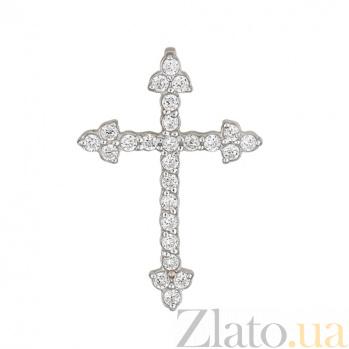 Золотой крест с бриллиантами Благополучие SVA--3110152/Бриллиант
