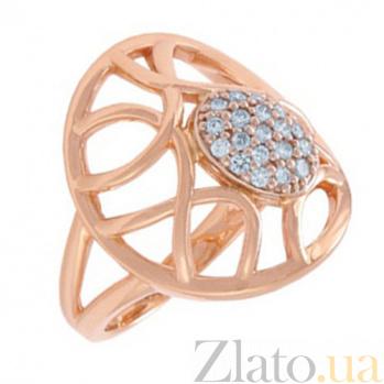 Золотое кольцо с бриллиантами Лунная соната KBL--К1605/крас/брил