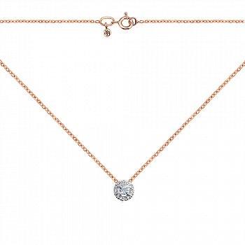 Золоте кольє в комбінованому кольорі з діамантами 000122549
