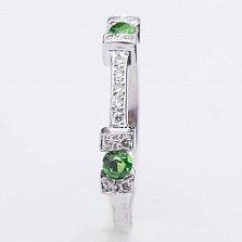 Золотое кольцо Жаклин с изумрудами и бриллиантами
