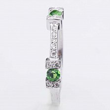 Золотое кольцо Жаклин с хризолит и бриллиантами