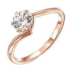 Кольцо из красного золота с кристаллом Swarovski 000137916