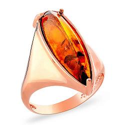 Золотое кольцо с янтарем Милада