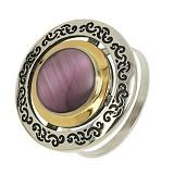 Серебряное кольцо с улекситом Джоконда