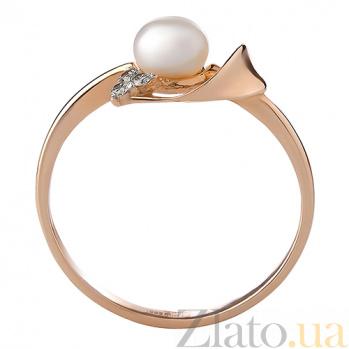 Кольцо из красного золота Малика с жемчугом и бриллиантами TRF--1121412н