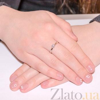Помолвочное кольцо в белом золоте Вивальди с фианитом SVA--1101479102/Фианит/Цирконий