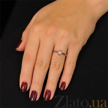 Золотое кольцо с бриллиантом Филиппа EDM--КД7474/1
