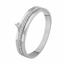 Кольцо из белого золота с бриллиантами Вдохновение