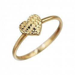 Кольцо из красного золота Переливы сердца