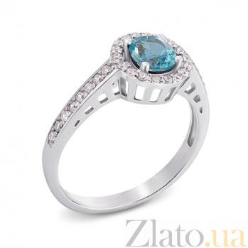 Серебряное кольцо с топазом Алина 1691/9р топаз