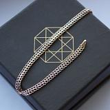 Золотой браслет Вияна с алмазной насечкой в плетении десятка