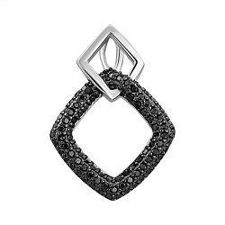 Серебряная подвеска с черными фианитами 000132650