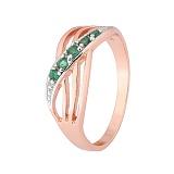 Серебряное кольцо с зеленым цирконием Сояла