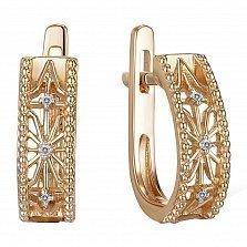 Серьги из красного золота с бриллиантами Ванесса