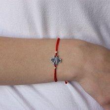 Шёлковый браслет Prima Comunione (Первое причастие) с серебряной вставкой