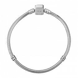 Серебряный браслет для шармов Актуаль с двумя разделителями