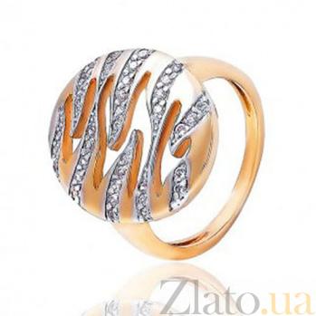 Золотое кольцо с цирконием Волны успеха EDM--КД0423
