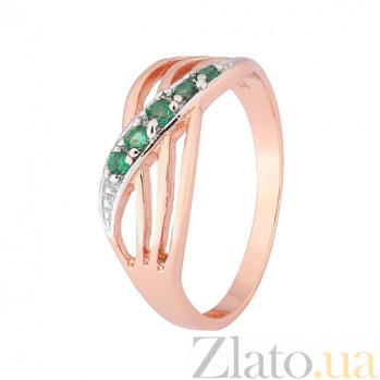 Серебряное кольцо с зеленым цирконием Сояла 000027361