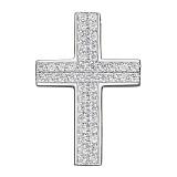 Серебряный крест Высь с фианитами
