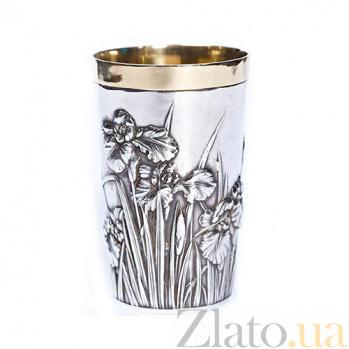 Серебряный стакан Ирисы  092