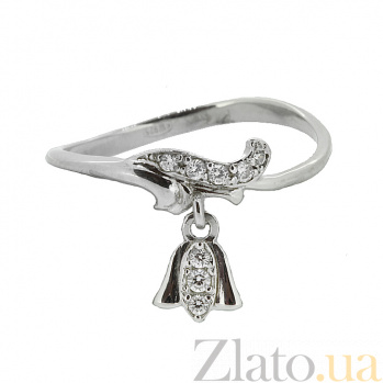 Серебряное кольцо с цирконием Morning ZMX--RCz-6901-Ag_K