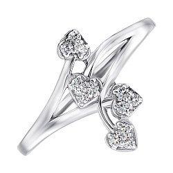 Серебряное кольцо с фианитами 000141133
