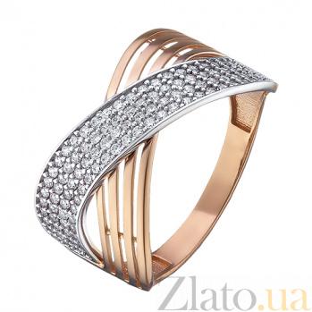 Золотое кольцо Вернисаж с фианитами 000079586