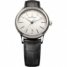 Часы Maurice Lacroix на черном кожаном ремешке коллекции Les Classiques Gents date