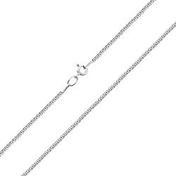 Серебряная родированная цепочка Мадонна, 2мм 000010579