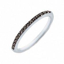 Кольцо в белом золоте Сия с черными бриллиантами