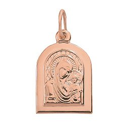 Ладанка из красного золота Божья Матерь Казанская 000004846