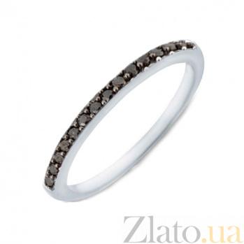 Кольцо в белом золоте Сия с черными бриллиантами SVA--1102038202/черн/Бриллиант