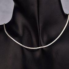 Серебряная цепочка Стелла в плетении колосок