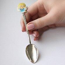 Серебряная кофейная ложка Ангелочек