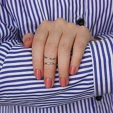 Сребряное кольцо на любую фалангу Майлин