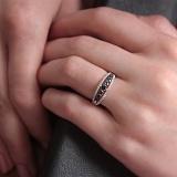 Золотое кольцо Астанта с сапфирами и бриллиантами