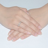 Кольцо из белого золота Согласие