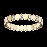 Кольцо в желтом золоте с бриллиантами Bee